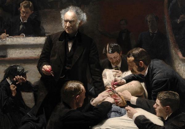 """""""The Gross Clinic,"""" una representación decimonónica de la cirugía como máximo logro tecnológico del hombre"""
