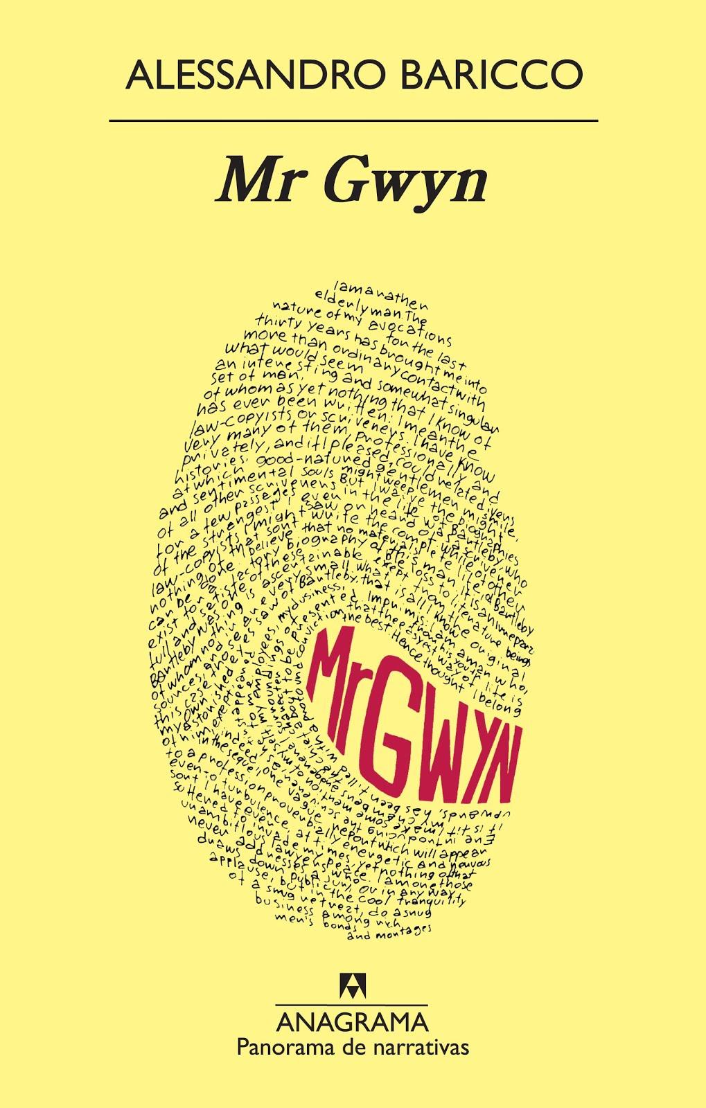 Mr. Gwyn, de Alessandro Baricco (2012)