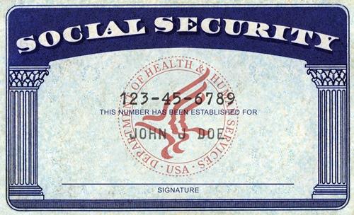 Una tarjeta de Seguridad Social de EEUU