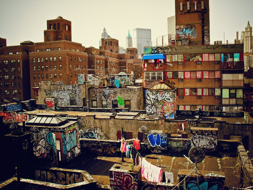Chinatown Rooftop Graffiti - New York City-XL
